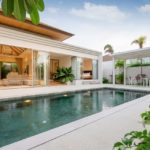 Exterior-design-of-pool-villa-house-and-home-feature-infinity-swimming-pool-and-garden